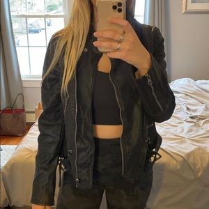 Free People Faux Leather Jacket NWT M